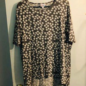 Long tunic polka dot shirt